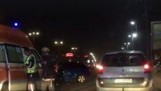 Пиян до козирката помете три коли и автобус до Панаира!