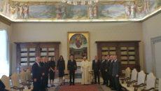 президентът Румен Радев при папата