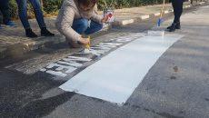 Цветна пешеходна пътека с призив срещу насилието в Асеновград
