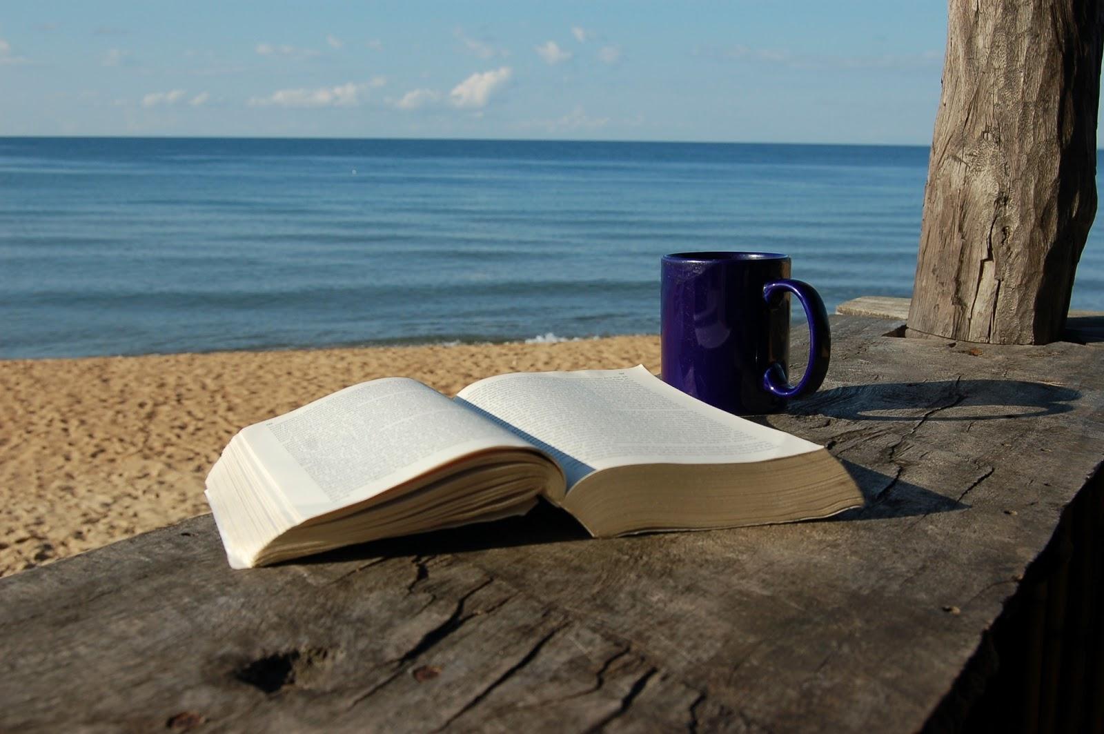 book_at_beach
