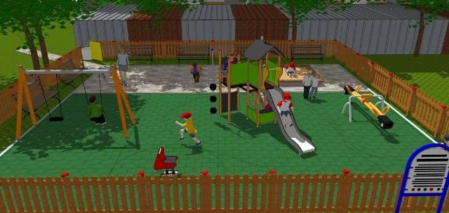 Нова детска площадка в Западен