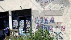фенове на левски пребоядисаха старинни сгради в карлово