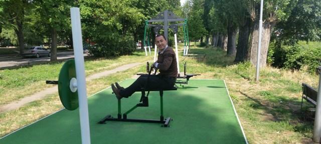Ремонтираха фитнеса на открито в Северен