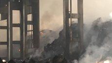 Глоби за фирмата, чийто цех за отпадъци горя край Шишманци (СНИМКИ)