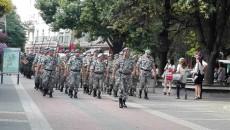 Военно шествие и заря за празника на Гарнизон Пловдив